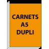 Carnets autocopiants A5 duplicata