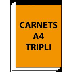 Carnet autocopiant A4 Triplicata