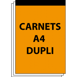 Carnet autocopiant A4 duplicata