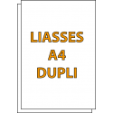 Liasses autocopiantes A4 Duplicata