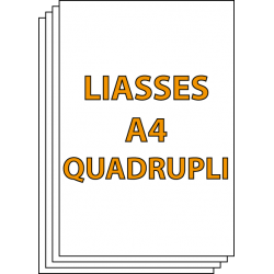 Liasses A4 Quadrupli