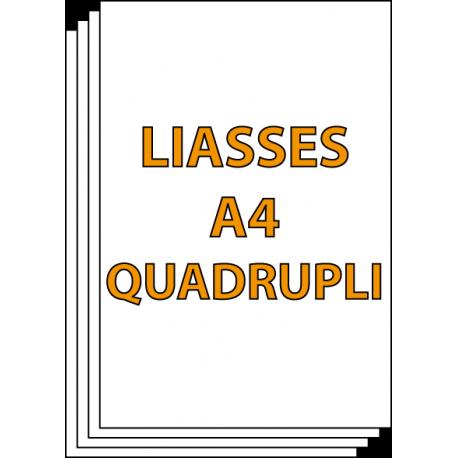 Liasses A4 Quadrupli