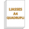 Liasses autocopiantes A4 Quadruplicata