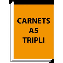 Carnets autocopiants A5 tripli