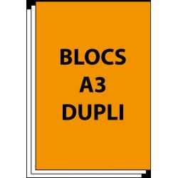Blocs autocopiants A3 Duplicata 50